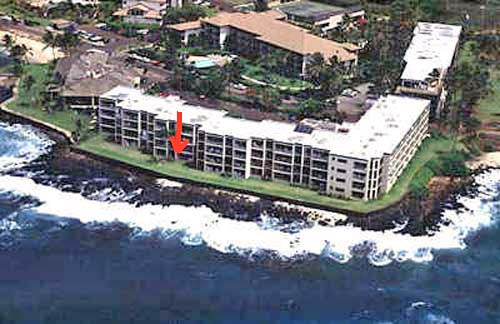 Another closer arial of Kuhio Shores