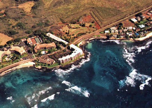 Arial View of Kuhio Shores